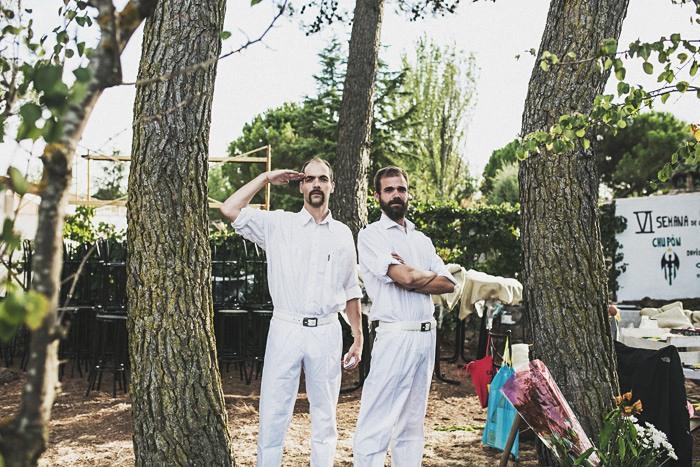 Fotos de los maestros de ceremonias de una boda loca en Madrid