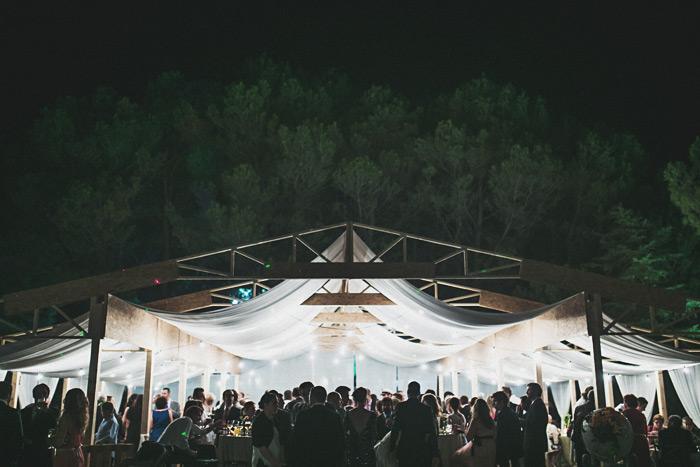 Una carpa para una boda en Madrid por Mangata