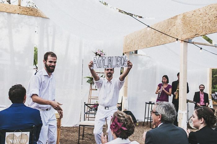 Fotos de boda al aire libre en Madrid