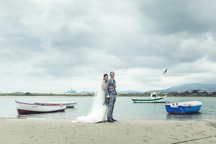 Fotos de una boda el la playa en Cádiz