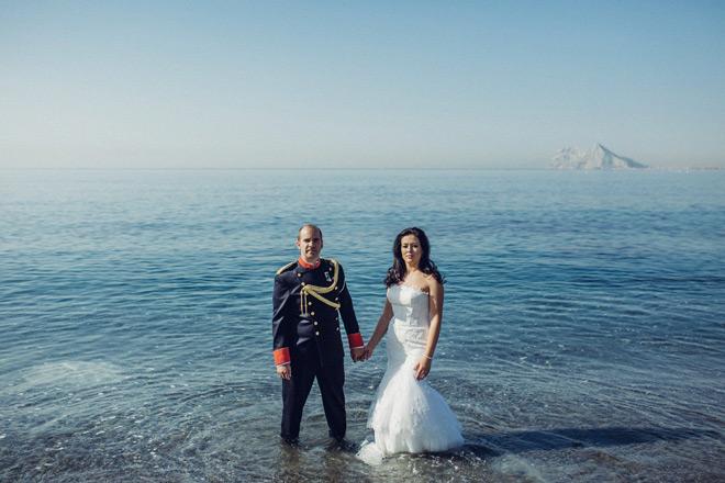 Fotos de boda en la playa de La Alcaidesa, cerca del Campo de Golf