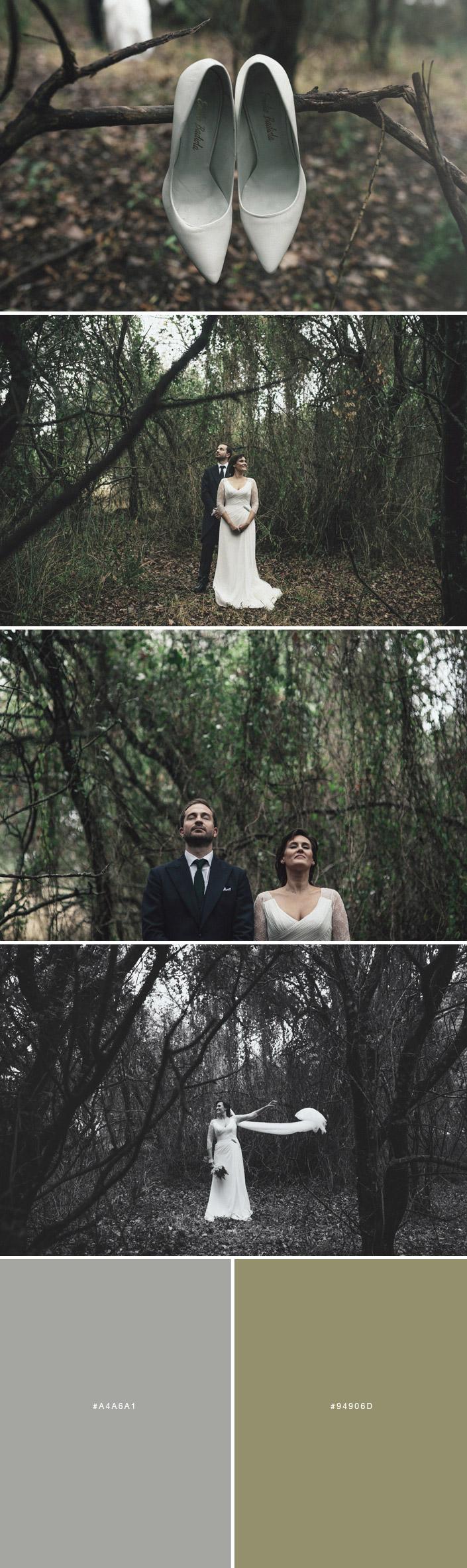 Fotos de boda en el bosque de la Almoraima en Cádiz