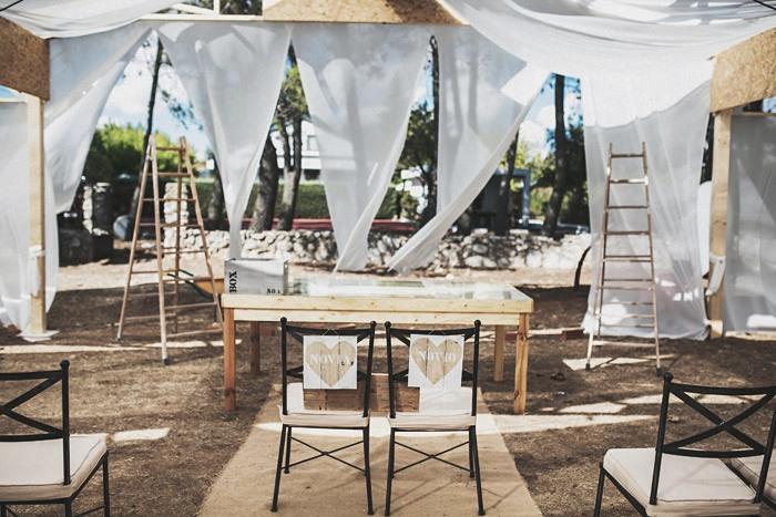 Fotografo de la boda en obras en Madrid