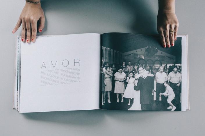 Libro con las fotos de boda en Los Barrios, Cádiz