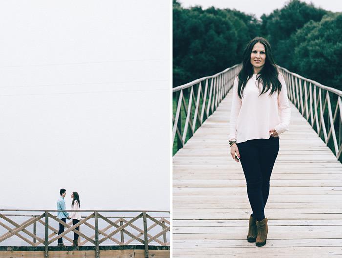 Fotos antes de la boda de una pareja de La Línea